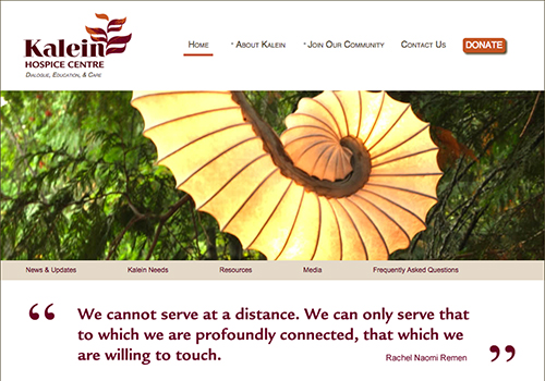 Featured on promotional print material for the Kalein Hospice Centre – Nelson, BC.